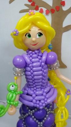 Кукла Рапунцель из воздушных шаров на день рождения. Харьков. фото 1
