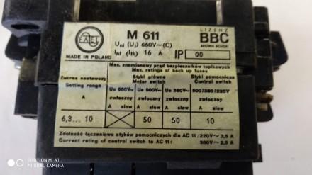 Пускатель кнопочный М611 6,3а, Польша. Днепр. фото 1