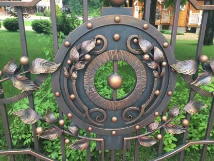 Ковані ворота на замовлення. Надворная. фото 1