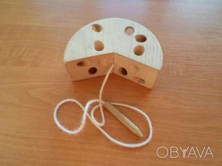 Игрушка - шнуровка. Развивает мелкую моторику ребенка. Фото 1,2 деревянная. Фото. Черновцы, Винницкая область. фото 1