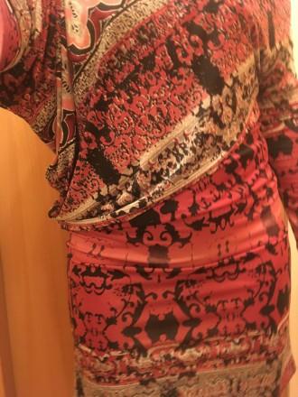 Трикотажное платье с открытым плечом 10-12 размер. Запорожье. фото 1