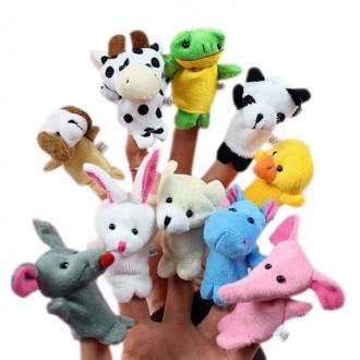Пальчиковый кукольный театр Зверюшки (10 игрушек). Днепр. фото 1