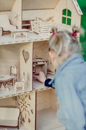 Красивий, приємний та міцний ляльковий будинок для вашої чарівної дівчинки. Ціна. Львов, Львовская область. фото 6