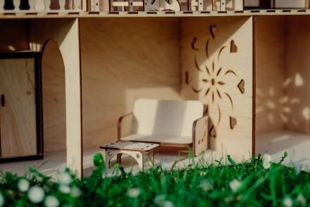 Красивий, приємний та міцний ляльковий будинок для вашої чарівної дівчинки. Ціна. Львов, Львовская область. фото 4