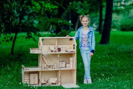 Красивий, приємний та міцний ляльковий будинок для вашої чарівної дівчинки. Ціна. Львов, Львовская область. фото 3