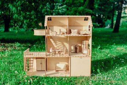 Красивий, приємний та міцний ляльковий будинок для вашої чарівної дівчинки. Ціна. Львов, Львовская область. фото 1
