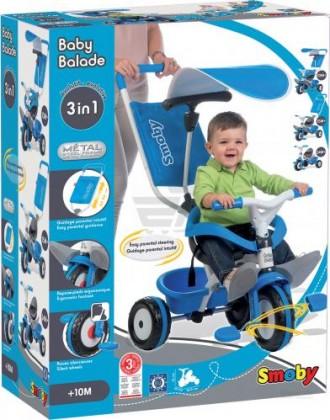 Продам триколесний велосипед BABY BALADE блакитний. Харьков. фото 1