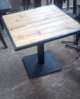 Стол деревянный б/у для летней площадки, пивной. Киев. фото 1