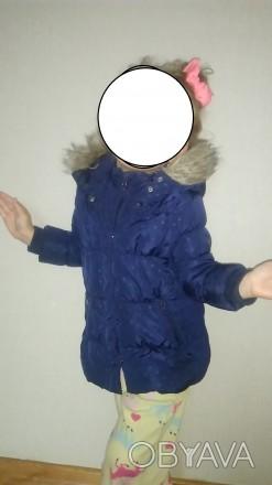 Зимова курточка 95-100 ріст.3-4 рочки Довжина від комірного шва по спині до низ. Львов, Львовская область. фото 1