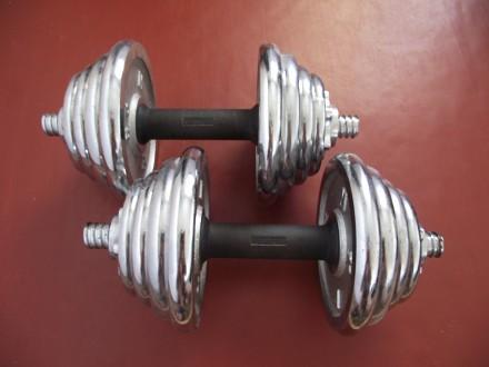 Продам гантели (наборные, 2 шт.); Вес (кг): 10 (каждая, соответственно 20кг общ. Смела, Черкасская область. фото 3
