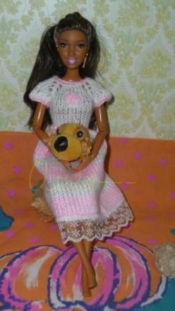 Нежное платье для куклы Барби.можно для беременной.. Бердичев. фото 1