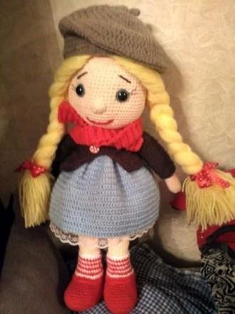 Детская кукла, Вязанная игрушка крючком, ручной работы. Киев. фото 1