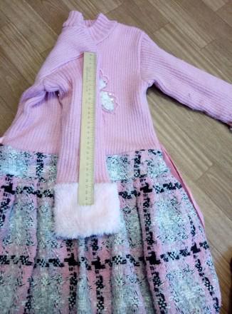 Платье теплое с жилеткой на девочку 6-8лет. Южноукраинск, Николаевская область. фото 6