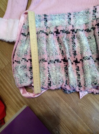 Платье теплое с жилеткой на девочку 6-8лет. Южноукраинск, Николаевская область. фото 5