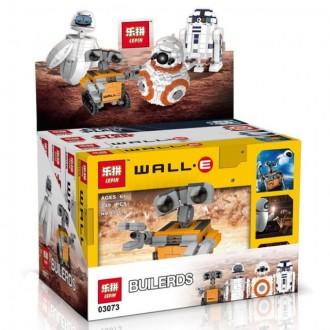 Конструктор Lepin 03073 Набор роботов : Wall-E, EVA, BB-8 & R2-D2. Киев. фото 1