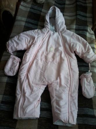Комбинезончик с рукавичками на девочку 1 годик. Черноморск (Ильичевск). фото 1