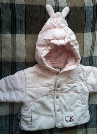 Курточка с капюшончиком на девочку 1-2 месяца. Черноморск (Ильичевск). фото 1
