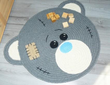 Коврик для детской комнаты «Мишка Тедди» Ручная работа. Днепр. фото 1