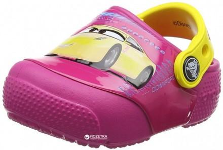 Дитячі Crocs FunLab Lights Cars 3 Оригинал Світяться. Самбор. фото 1