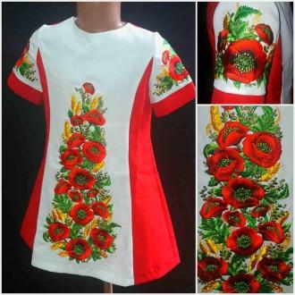Плаття для дівчинки Маки з колосками. Черновцы. фото 1