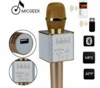 Беспроводной микрофон караоке bluetooth Q7. Днепр. фото 1