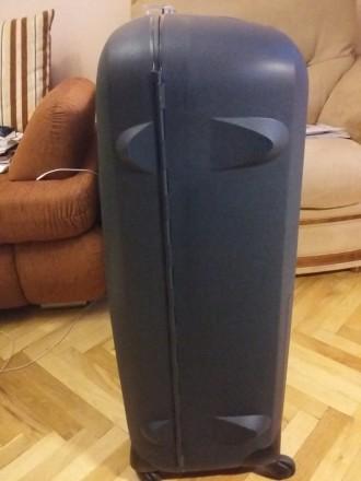 Новый брендовый чемодан тёмно синего цвета SAMSONITE, модель Termo Young, произв. Киев, Киевская область. фото 9