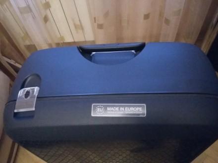 Новый брендовый чемодан тёмно синего цвета SAMSONITE, модель Termo Young, произв. Киев, Киевская область. фото 5