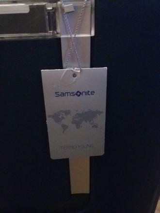 Новый брендовый чемодан тёмно синего цвета SAMSONITE, модель Termo Young, произв. Киев, Киевская область. фото 3