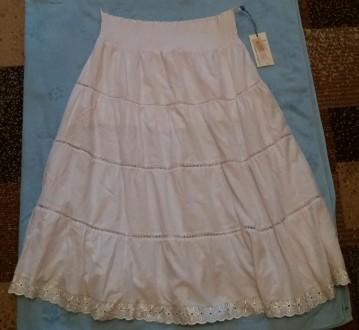 Длинная белая юбка. Киев. фото 1
