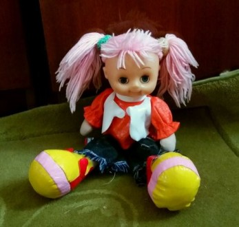 Кукла с розовыми волосами. Киев. фото 1