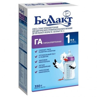 Смесь гипоаллергенная для детей с риском развития аллергии Беллакт ГА. Чернигов. фото 1