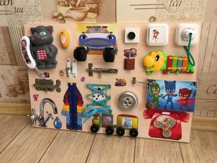 Бизиборд для малышей В НАЛИЧИИ!Отличный подарок,доска Монтессори!. Мариуполь. фото 1