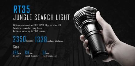 АКЦИЯ! Фонарик IMALENT RT35 2350 LM. 1350 м. USB Магнит.зарядка. Ужгород. фото 1