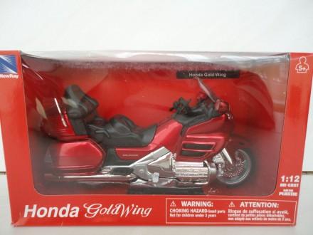 Модель мотоцикл 1:12 Honda GL 1800 Gold Wing New Ray новая игрушка качественная. Львов. фото 1