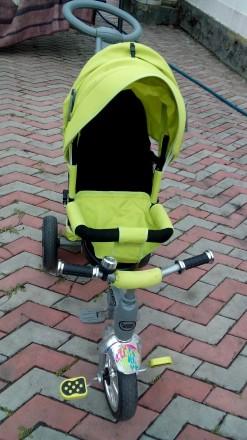 Детский велосипед управляемый, трехколесный. Колёса пена. Трансформер. Васильевка. фото 1