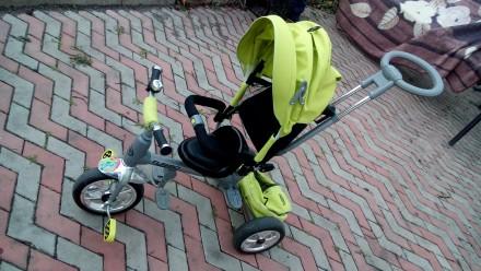 Прочный и удобный трехколесный велосипед с функцией прогулочной коляски! Велоси. Василівка, Запорізька область. фото 3