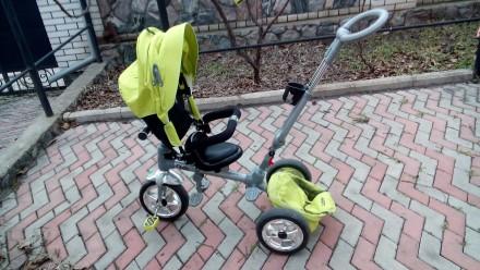 Прочный и удобный трехколесный велосипед с функцией прогулочной коляски! Велоси. Василівка, Запорізька область. фото 8