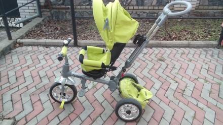 Прочный и удобный трехколесный велосипед с функцией прогулочной коляски! Велоси. Василівка, Запорізька область. фото 4