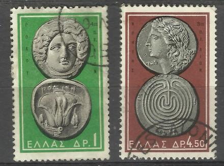 Марки Греции 3 шт (гашеные) Древнегреческие монеты                    два лота 4. Киев, Киевская область. фото 3