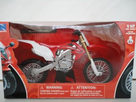 Мотоцикл модель 1:12 HONDA CRF 250 CRF 450 motocross New Ray крос нова игрушка. Львів. фото 1