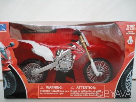 Мотоцикл модель 1:12 HONDA CRF 250 CRF 450 motocross New Ray крос нова игрушка