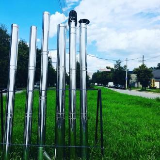 Труба дымоходная 100 150 160 180 200 250 нержавеющая. Киево-Святошинский. фото 1