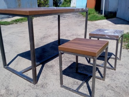 gallery gallery-2 Стол и два стула лофт ручной роботы. Черкассы. фото 1