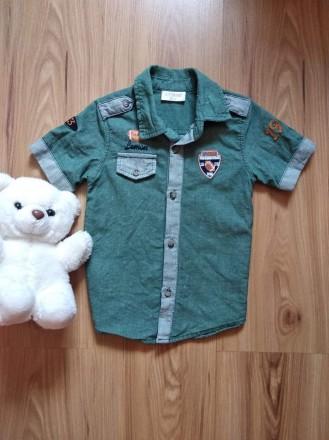 Бомбезная рубашка для модника от Lemoru, рост 98 см 3 года.. Ужгород. фото 1