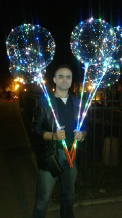 Шарики с подсветкой. Полтава. фото 1