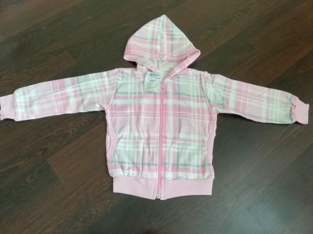 Кофта для девочки розовая клетка на 2,3 годика. Мирноград (Димитров). фото 1