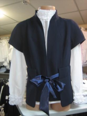 Жилет для дівчинки, синій, чорний, ТМ Lukas Знижки на одяг від 10 до 40 %. Винница. фото 1