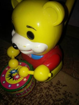 Игрушка мишка-барабанщик. Сумы. фото 1