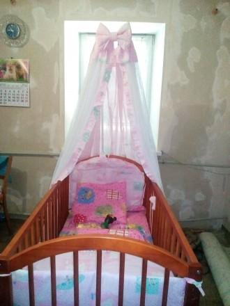 Детская кроватка с балдахином. Кривой Рог. фото 1