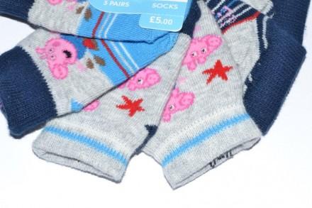 Носки Mothercare new born или от 0 до 1 месяца Свинка Пеппа. Чаплинка. фото 1